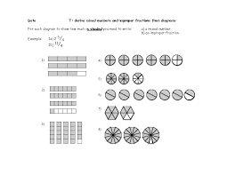 Derive Mixed Numbers and Improper Fractions From Diagrams 4th ...Derive Mixed Numbers and Improper Fractions From Diagrams 4th - 6th Grade Worksheet | Lesson Planet