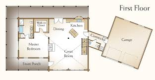 Simple Log Cabin Floor Plans  open floor plan homes   loft    Log Home Floor Plans   Loft