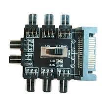 12V <b>1 to 8 3Pin</b> Fan Hub Pwm Sata Molex Splitter PC Mining Cable ...