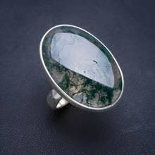 Натуральный Моховой <b>Агат</b>, ручная работа, уникальное <b>кольцо</b> ...
