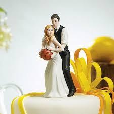 <b>Basketball</b> Dream <b>Team</b> Bride and Groom Figurine <b>Cake Topper</b>