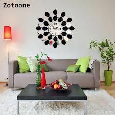 <b>ZOTOONE</b> 45*45cm Stickers Mirror Wall Clock Diy Acrylic Three ...