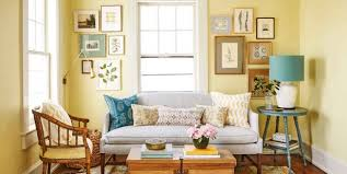 colorful living room with shabby chic color ideas yellow pastel walls and white ceilings with chic yellow living room