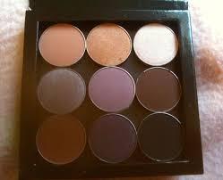 i popped all 9 mug eyeshadows into the gorgeous z palette