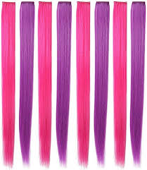 Rhyme <b>21</b> '' 8 <b>PCS Set</b> Straight Colorful Colored Clip In/On Hair ...