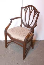 hepplewhite shield dining chairs set: set  hepplewhite english mahogany dining chairs chair