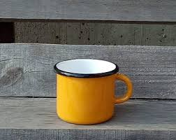 <b>Vintage enamel cup</b> | Etsy