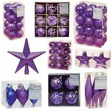 <b>Purple</b> Christmas Baubles for sale | eBay