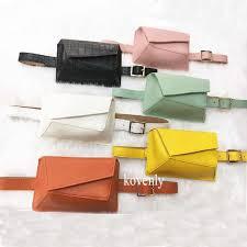 New <b>Waist Bag PU</b> Leather <b>Fanny</b> Pack Femal Belt Phone Pouch ...