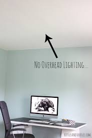 home office ceiling overhead office lighting