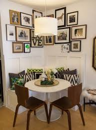 small dining room decor click for full feature wallpaper gallery wall grey bedroom white paint color kitchen renovation banquette breakfast nook brass