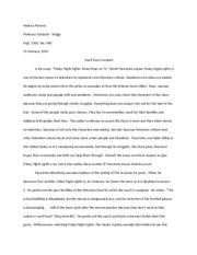 critical engagement essay drafting   reading log for friday night     pages critical engagement example rough draft