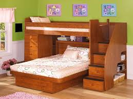 beauteous kids bedroom ideas furniture design with brown wooden bunk bed along drawer also storage under bunk bed bedroom sets kids
