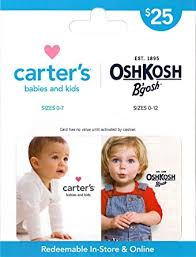 Amazon.com: Carter's/OshKosh B'gosh Gift Card $25: Gift Cards
