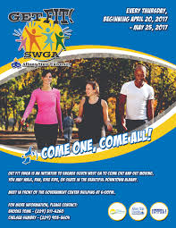 albany business news albany chamber magazine get fit swga is an initiative to engage southwest to come out and get moving every thursday beginning 20 25