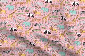 Products for Zoo Jungle Animals Doodle with Panda, <b>Giraffe</b>, <b>Lion</b> ...