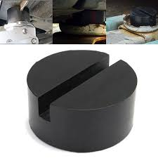 <b>2Pcs Black Rubber</b> Car Truck Slotted Frame Rail Floor Jack Disk ...