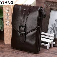 <b>2018 YIANG</b> Brand <b>Genuine Leather</b> Men's Shoulder Crossbody ...