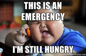 THIS IS AN EMERGENCY I'M STILL HUNGRY - Fat Asian Kid | Meme Generator via Relatably.com