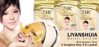 Hasil gambar untuk masker emas bubuk