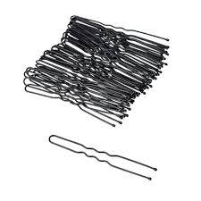 <b>Набор шпилек для волос</b> 50шт., металл, 6 см, черный в ...