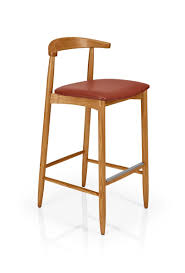 Solid Timber Frame <b>Bar Stool</b>, upholstered in fabric, <b>faux</b> leather or ...