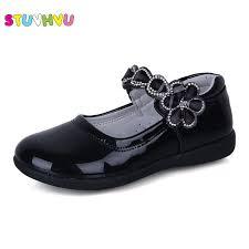 Online Shop <b>Chivry 2019</b> New Autumn Girls Leather Princess Shoes ...