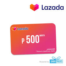 Lazada Gift Card P500 (SMS eVoucher) | Lazada PH