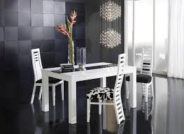 amusing modern dining room black and white with black wall design idea plus black walpaper then amusing white room