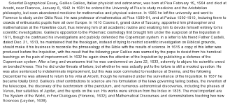 galileo biography at essaypedia comessay on galileo biography