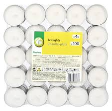 Купить <b>Набор чайных свечей</b> Auchan белые, 100 шт с доставкой ...