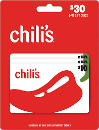 Chili's $10 Gift Card (3-Pack) Chili's $20 Gift Card MP - Best Buy