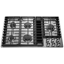Gas Stainless Steel Cooktop Kitchenaid 36 In Gas Downdraft Cooktop In Stainless Steel With 5