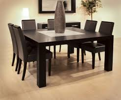 elegant square black mahogany dining table: modern dining table with stone base vicenza shapes from diotti af
