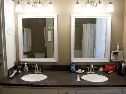 bathroom bathroom vanity mirror pendant lights glass
