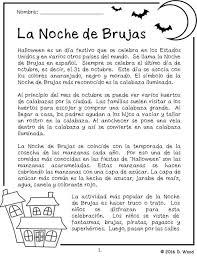 spanish halloween la noche de brujas bilingual reading the bilingual spanish english reading on the celebration of halloween it includes a total of