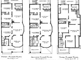 Victorian House Plans  Victorian Stick Style Designs from    Victorian Row House Plans Historic Brownstone Floor Plans