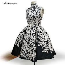 Vestidos Coctel Elegant <b>Black</b> Cocktail Dresses 2019 <b>Short Lace</b> ...