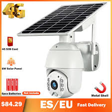 HISMAHO 4G SIM Card 1080P IP Camera <b>WIFI 8W Solar</b> Panel ...