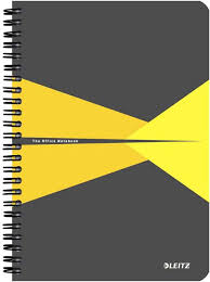 Бизнес-<b>тетрадь</b> Leitz <b>Office</b> Card, <b>А5</b>, клетка, цвет: желтый