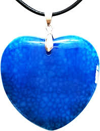 Mina Heal Heart Shaped Agate Pendant That is a ... - Amazon.com