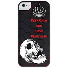 <b>Чехол для iPhone</b> 5 глянцевый, с полной запечаткой Keep Calm ...