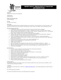 doc administrative assistant job description office resume job duties