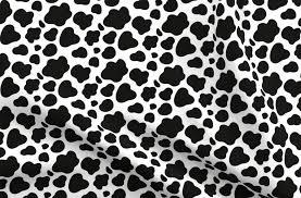<b>Cow</b> Pattern. <b>Black</b> spots on <b>white</b>. - Spoonflower