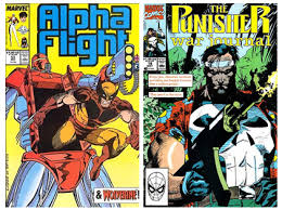 Covers to two of our favorite Carl Potts / Jim Lee issues, Alpha Flight 53 and Punisher War Journal 18. - alphaflight53andpwj18