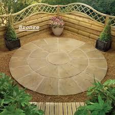 star circle natural stone patio paving kit