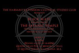 Harvard Extension Cultural Studies Club Hosting Satanic Black Mass