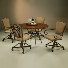 Dining Room Chairs With Casters And Arms Swivel Dining Room Chairs Casters Room Furniture Swivel Chairs