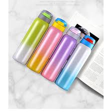500ml <b>BPA</b> Free Insulated Straw <b>Gradient</b> Color Vacuum Thermos ...