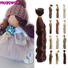 muzi wigs <b>1pieces Extension doll wigs</b> 15*100cm Natural Color ...